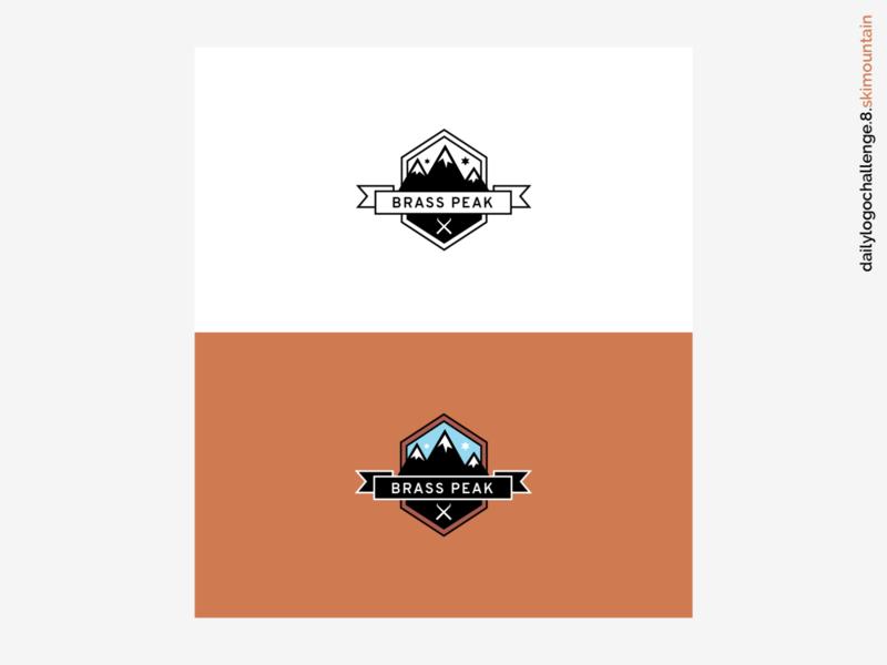 Daily Logo Challenge #07 - Ski Mountain ski mountain logo ski mountain mountain illustration branding logo vector dribbble graphic design logo design dailylogo dailylogochallenge