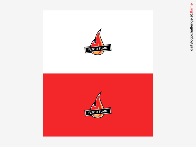 Daily Logo Challenge #10 - Flame dribbble illustration branding vector daily logo challenge logo one fire fire red graphic design logo 10 daily logo challenge 10 flame flame logo logodesign dailylogochallenge