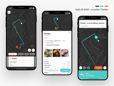Daily UI #020 - Location Tracker daily ui 20 locations uxdesign ux apple vector iphone xs user interface sketch ui ui design design daily 100 dribbble tracker location tracker daily ui