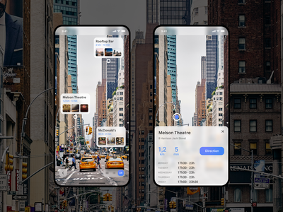 Google Maps - Ar Mode concept app google maps augmented reality ar ar mode vector google ux design apple iphone xs user interface ui sketch ui design design daily ui dribbble