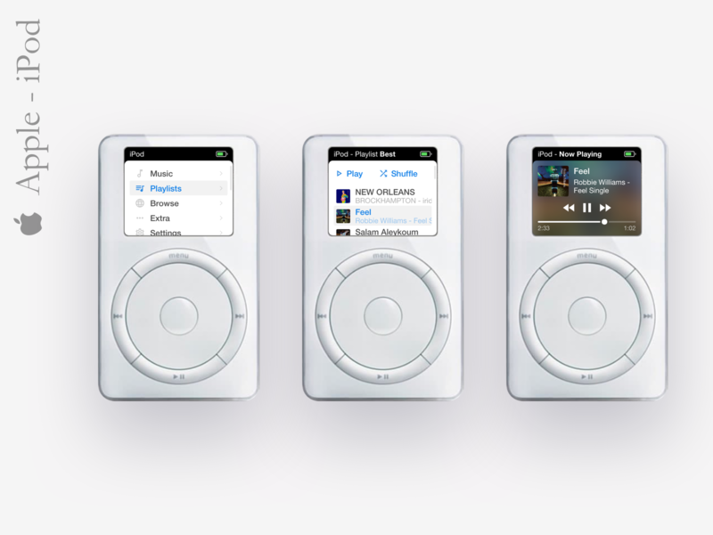 iPod Classic 1G - UI Concept music app music concept app ux user inteface ux design vector user interface sketch ui design design dribbble apple ipod