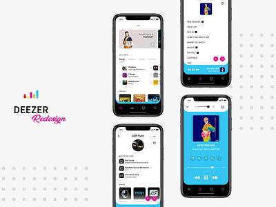 Deezer App Redesign branding concept app music app music deezer ux vector apple illustration ux design iphone xs ui user interface sketch ui design design dribbble