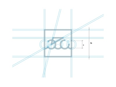 Port Rowerowy Grid construction lines grid sign water bicycle bike harbor design logo