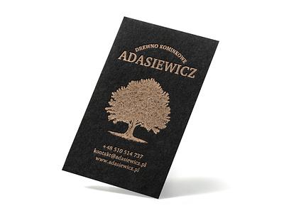 Black and gold oak tree pantone 871 871 pantone letterpressed letterpress paper cotton card business black