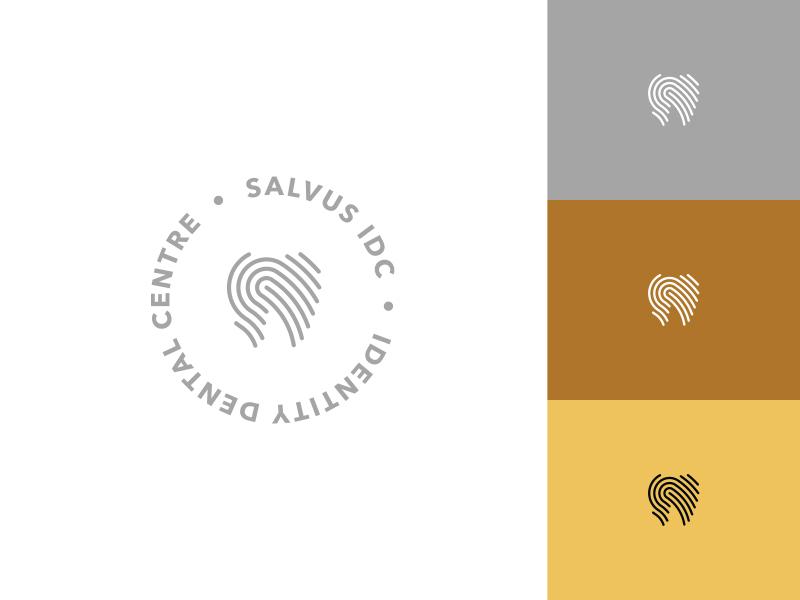 Identity Dental Centre round logo round rounded creative identity fingerprints fingerprint tooth teeth logo dentist dental dent