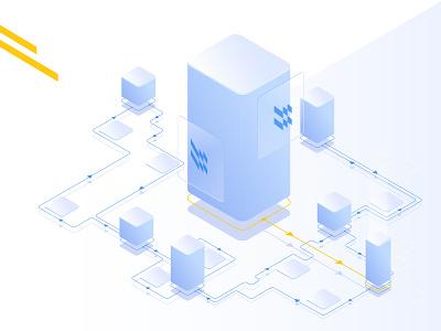blockchain for m3m vector illustrator web design ui illustration design cryptocurrency crypto btc blockchain