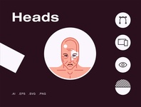 Heads Avatars