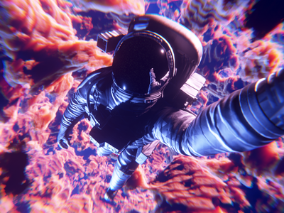 Selfie time nebula cosmos blender 3d