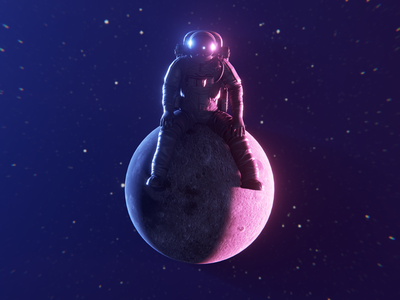 Conquered conquered cosmos moon nebula 3d! astronaut blender