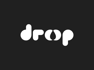 droop logo concept typography negative-space negative space negative vector minimal logo illustration flat design branding brand identity brand
