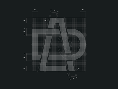 DLA grid design graphic design branding logo