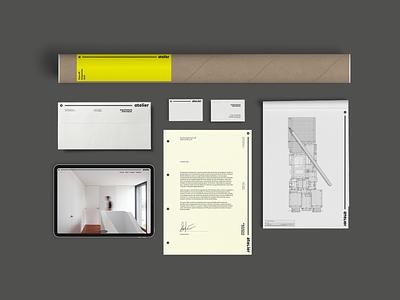 o—atelier architecture visual identity graphic design branding logo