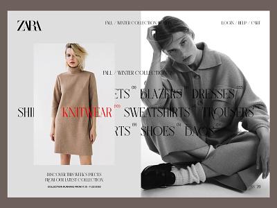 Fall/Winter Collection - ZARA ui design ux design minimal web design userinterfacedesign ui ux designer ui  ux design ui ui design typography design