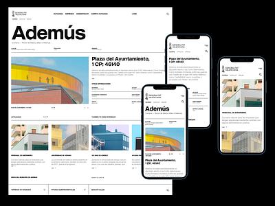 Generalitat Valenciana Website - Listing Page ui ui ux designer userinterfacedesign web design ui  ux design ui design typography design