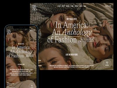 Typepractice - Vogue: Met Gala 2021 type visualdesign ui ui ux designer userinterfacedesign web design ui  ux design ui design typography design