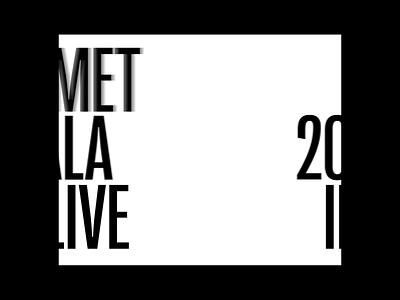 Vogue-Met Gala 2021 Landing Page Animation aftereffects animation visualdesign websiteanimation webanimation ui ui ux designer userinterfacedesign web design ui  ux design ui design typography design