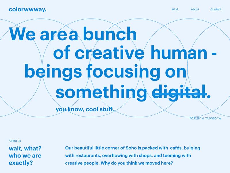 colorwwway. digital design agency wireframes 1.0 web landing page branding minimal userexperience website userinterfacedesign ui ux designer ui  ux design layoutdesign font design web design ui design ux design ui design ui typography design layout wireframedesign wireframes