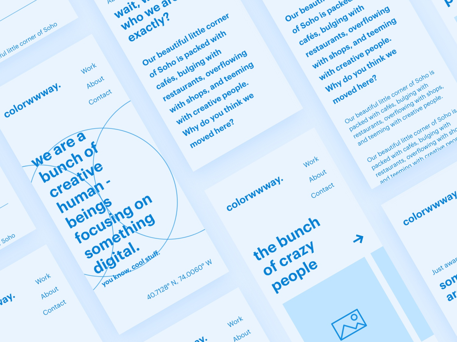 Wireframe Mobile - colorwwway. digital design agency wireframedesign wireframes mobile design ux type userexperience landing page branding userinterfacedesign ui ux designer ui  ux design minimal layoutdesign font design web design ui design ux design ui design ui typography design