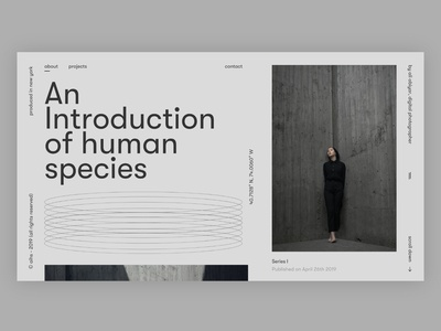 An introduction of human species (design dump) black minimalistic design landing page type branding userexperience userinterfacedesign web website font design web design ui ux designer ui  ux design ui design ux design minimal layoutdesign ui ui design typography design
