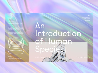 An introduction of human species (V3 - Colored) minimalistic design ux web landing page branding type website userexperience font design web design userinterfacedesign ui ux designer ui  ux design ui design ux design minimal layoutdesign ui design ui typography design