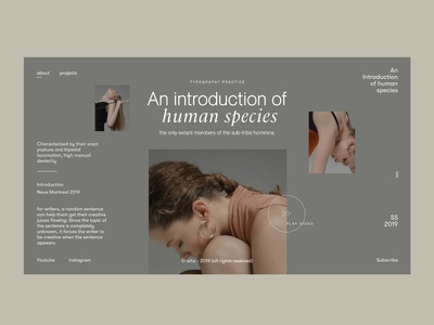 Typractice 9 feat Zhenya Rynzhuk's Imagery earthtones graphicdesign editorial layout editorial design fashion minimalistic design type web landing page font design web design userinterfacedesign ui ux designer ui  ux design minimal layoutdesign ui ui design typography design