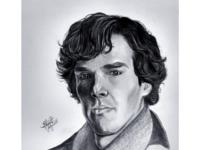 Sherlock Holmes( Benedict Cumberbatch) Graphite portrait