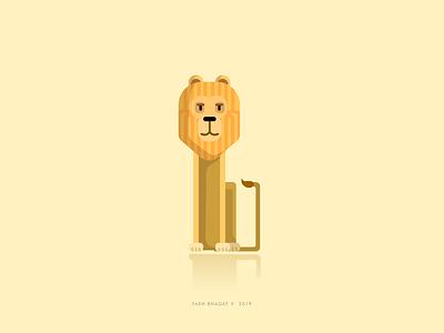 B Illustration minimalism minimalist illustrator cute king lion illustrations 36daysoftype-b 36daysoftype b vector typography poster illustration design art concept