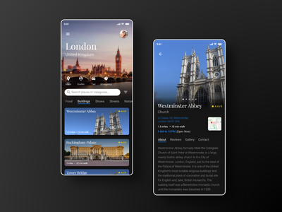 Explore London App ux mobile ui london rebound mobile design madewithadobexd gems city app adobexd