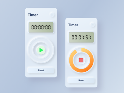 Timer Concept mobile uiux interaction prototyping alarm clock timer stopwatch adobexd application mobile application mobile app design skeuomorph uiux mobile ui mobile ux ui concept
