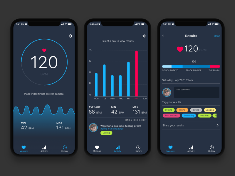 iphone heart rate monitor app reviews