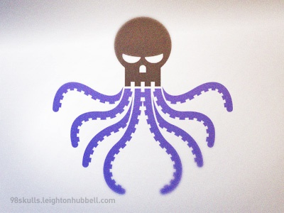 98 Skulls - Speaking in tongues 98 skulls design challenge octopus arms tentacles skull icon icon design illustration speaking tongues