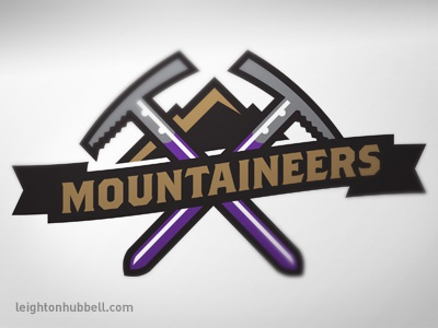 Mountaineer secondary logo by Leighton Hubbell - Dribbble