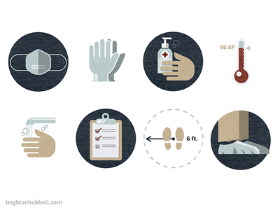 COVID icon set swatches fabric medical safety covid-19 illustration icon design icon
