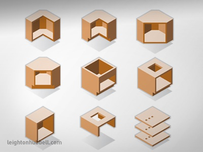 Modular Cabinet Icon Set By Leighton Hubbell Dribbble