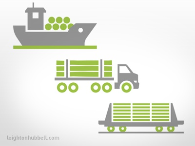 Forestry Icons - transportation lumber boards train ship log truck icon design forestry