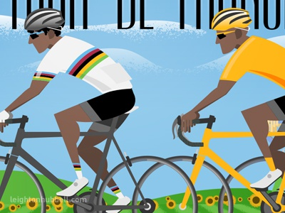 Cycling Infographic illustration WIP