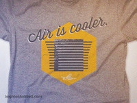 Air is Cooler T Shirt concept
