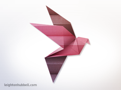 Origami bird illustration