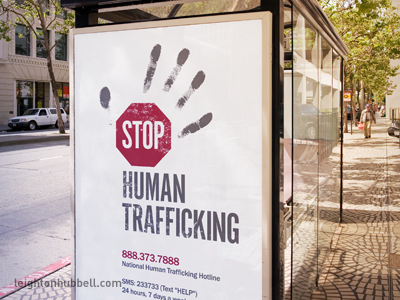 Stop Human Trafficking logo design