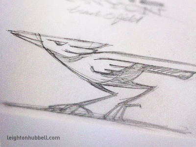 Track and field mascot sketch