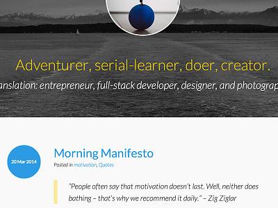 Personal Site –Blog blog portfolio personal site blakeowens.com blakeowens
