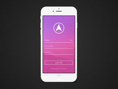 iOS Sign Up Form dailyui001 dailyui 001 register app ios form sign up