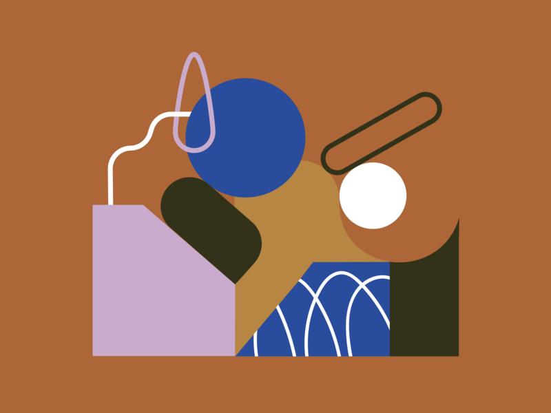 Movement Set. vector lines illustration art abstract art shape geometrics color