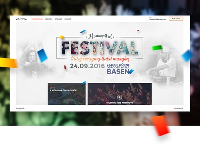 Housepital festival 2016 festival web design