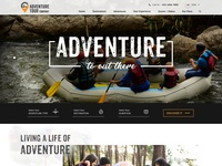 Adventure home landing page.