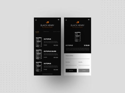 Black Henry ( UI Design )