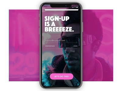 Daily UI Challenge #001 - Sign Up ux design ui design sign in sign up app colourful dailyui