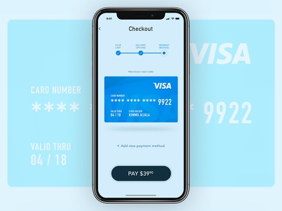 Daily UI #002 - Credit Card Checkout ux design ui design credit card ux mobile checkout dailyui