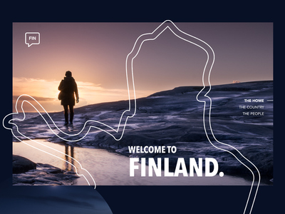 Daily UI #003 - Landing Page web design ux design full screen landing page ui design finland design web dailyui
