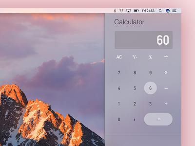 Daily UI #004 - Calculator ui design ux design desktop osx mac calculator dailyui